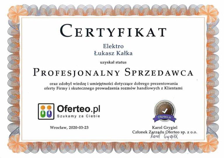 certyfikat_oferteo_elektro_kalka