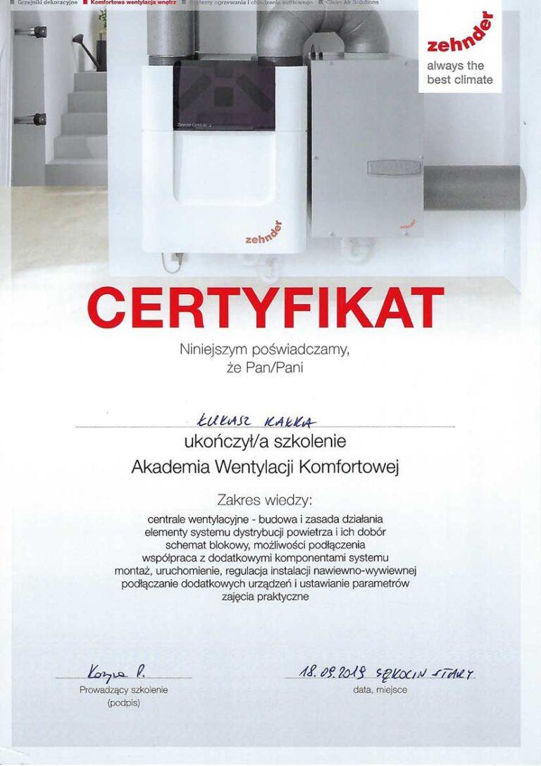 certyfikat_rekuperacja_kalka